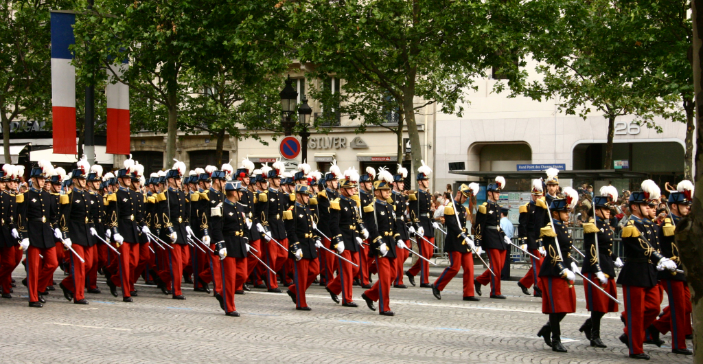 Military parade on the Champs-Elysees